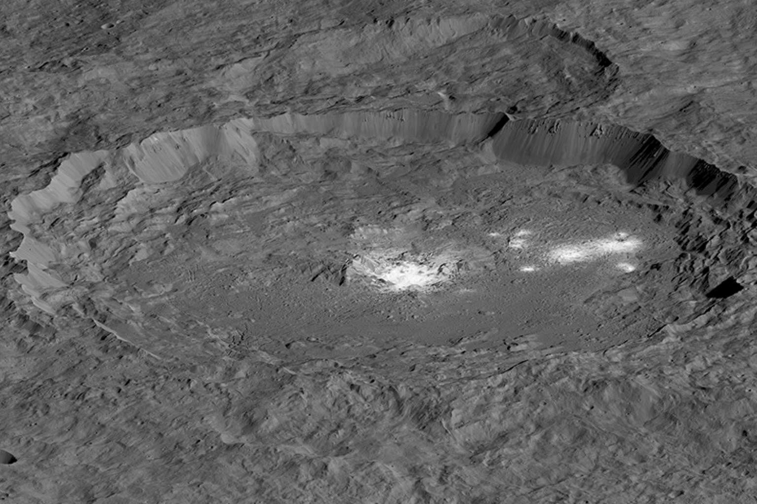 """Dwarf world Ceres is 'ocean world' with salty water deep underground"""""""
