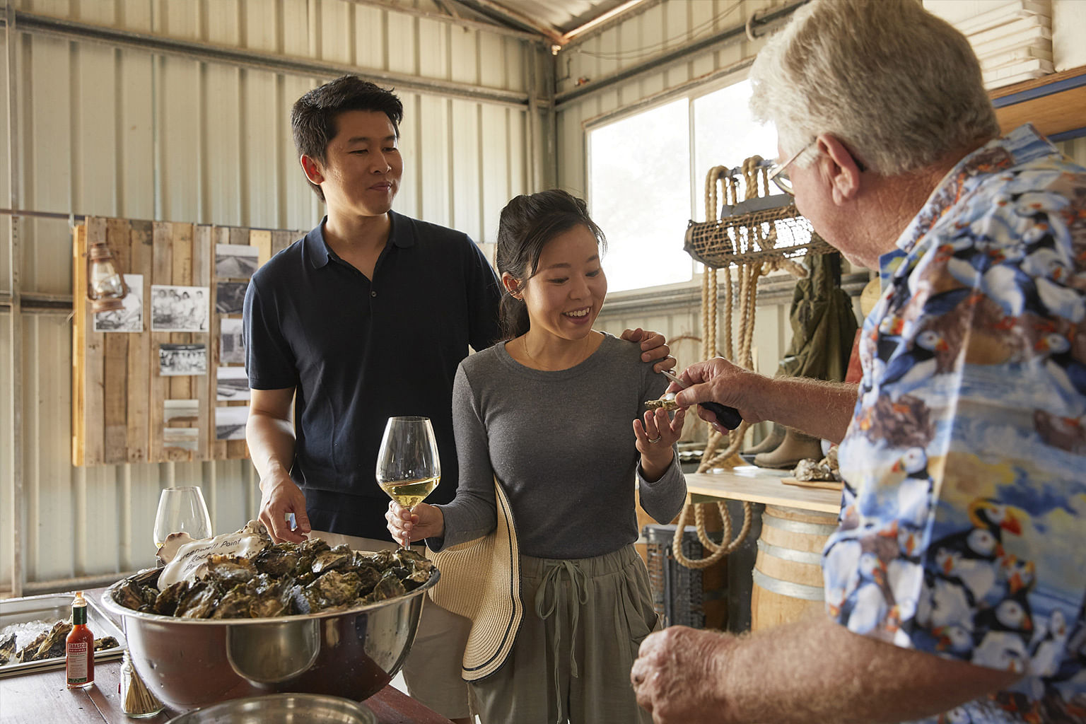Shoalhaven Coast, New South Wales, Australia, Wine, Jim Wild's Oysters
