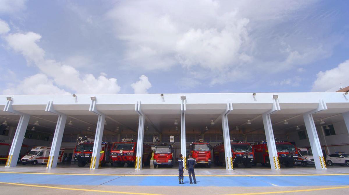 news singapore firefighting high seas
