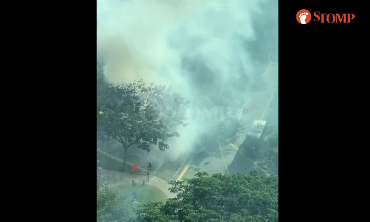 Passenger bus catches fire in Portsdown Road