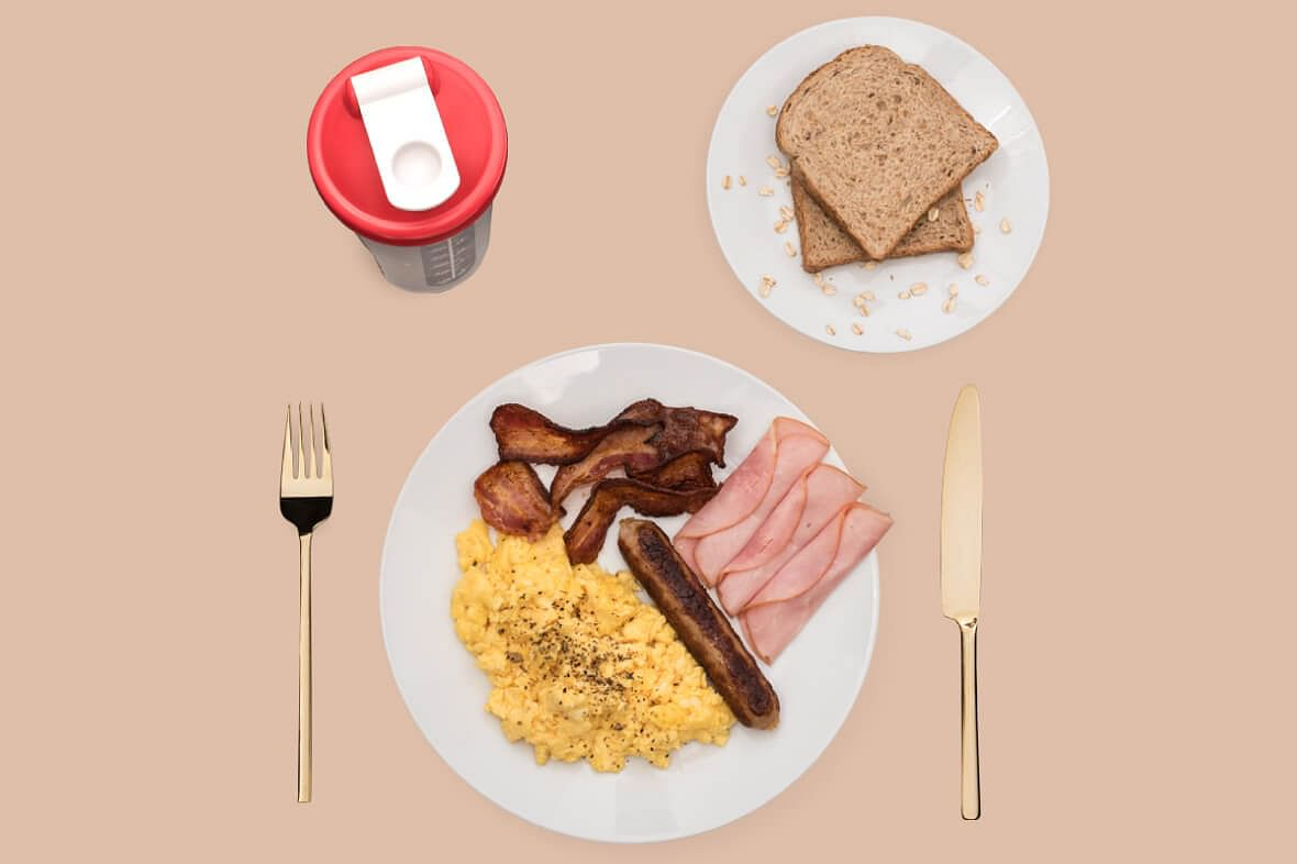 Singaporean swimmer Joseph Schooling's breakfast of champions.